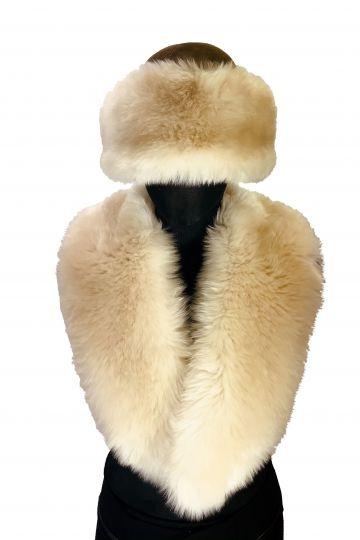 Lamb fur roll collar - 01