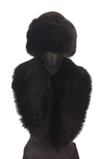 Lamb fur roll collar - 02