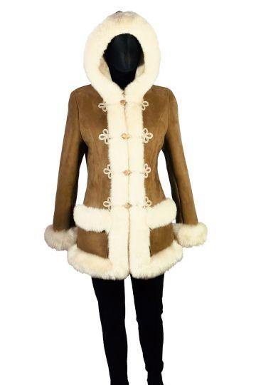 'Mathilde' lambskin coat - 01