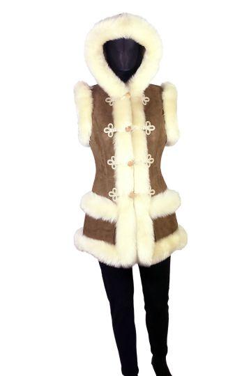 'Mente' decorated lambskin waistcoat - 13