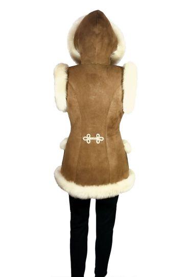 'Mente' decorated lambskin waistcoat - 14