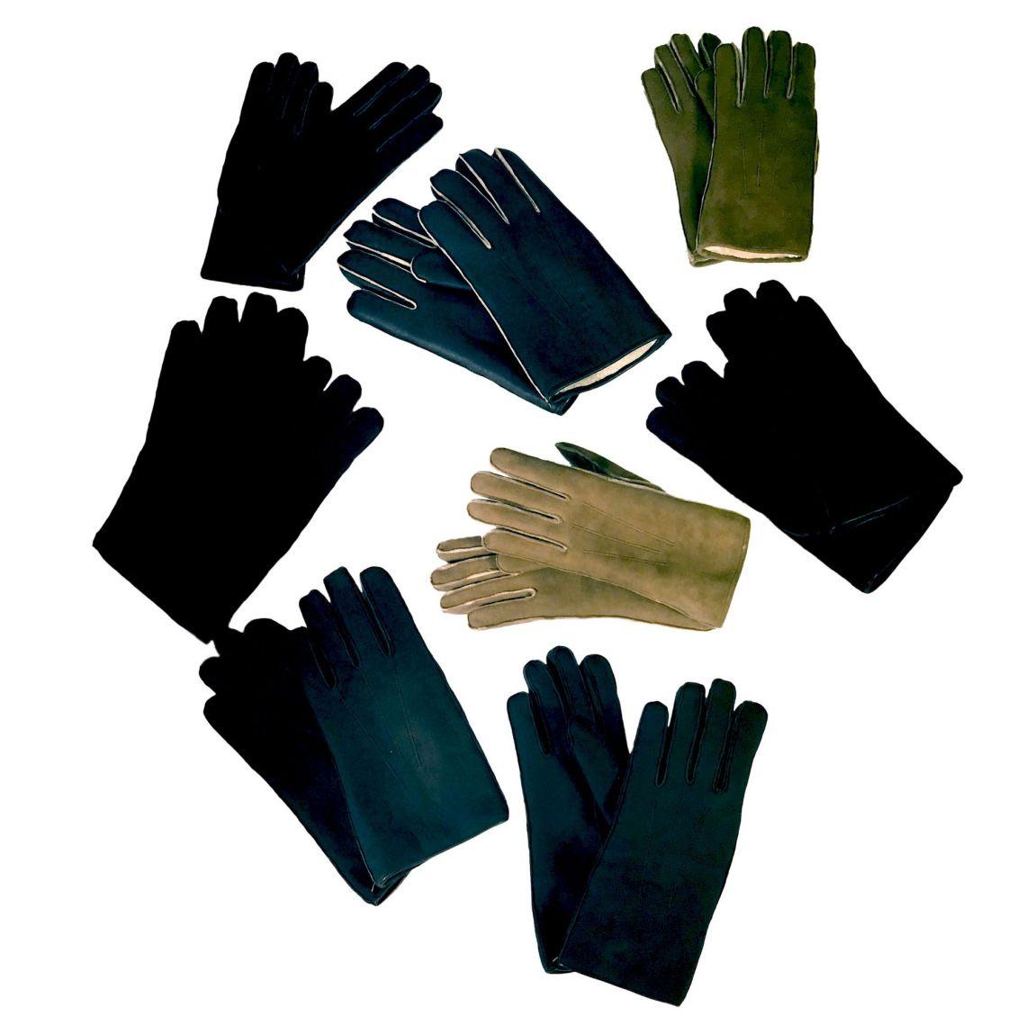 Five-finger lambskin gloves - 01
