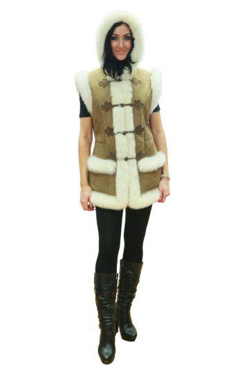 'Mente' decorated lambskin waistcoat - 01