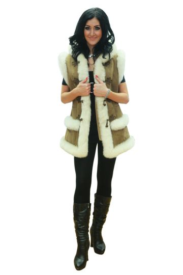 'Mente' decorated lambskin waistcoat - 03