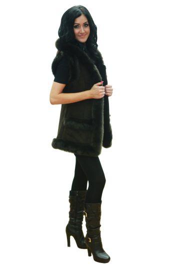 'Mente' decorated lambskin waistcoat - 05