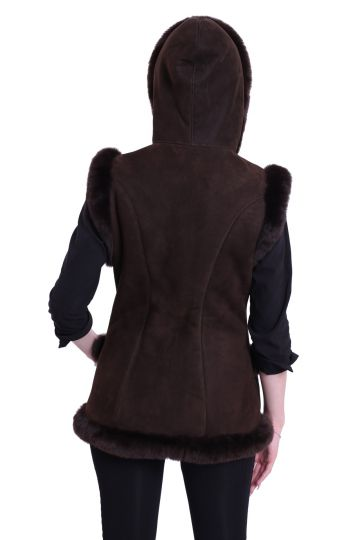 'Mente' decorated lambskin waistcoat - 10