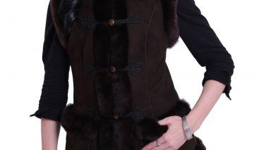 'Mente' decorated lambskin waistcoat - 11