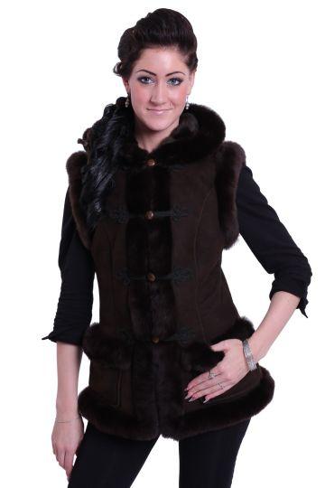 Female lambskin waistcoats