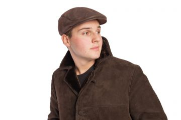 Male lambskin cap with French style - 01