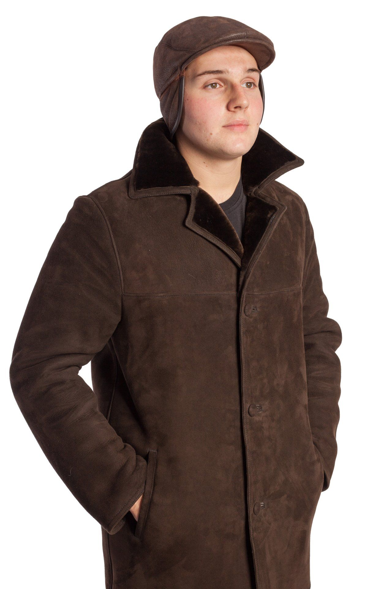 Male lambskin cap with French style - Garay Furrier 08d12fb90a