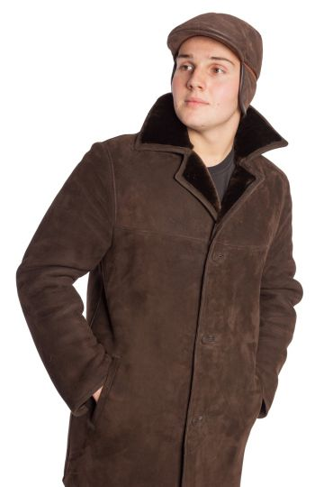 Male lambskin cap with French style - 03