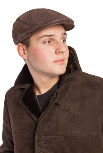 Male lambskin cap with French style - 04