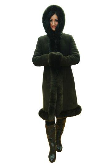 Long 'Nóra' lambskin coat - 02