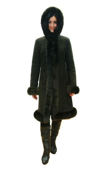 Long 'Nóra' lambskin coat - 03