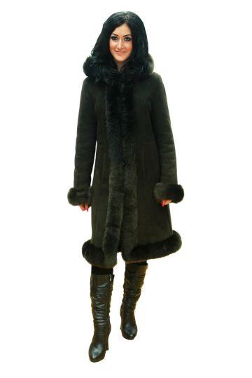 Long 'Nóra' lambskin coat - 05