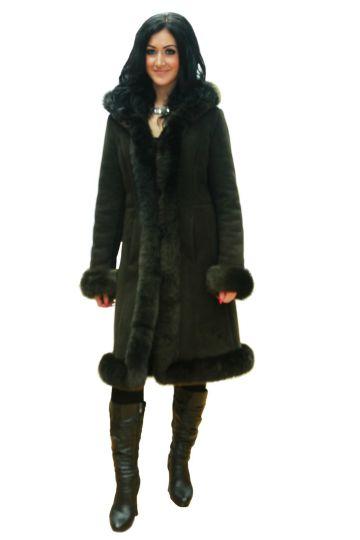 Long 'Nóra' lambskin coat - 06