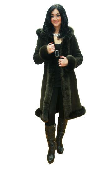 Long 'Nóra' lambskin coat - 07