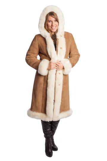 Long 'Nóra' lambskin coat - 08