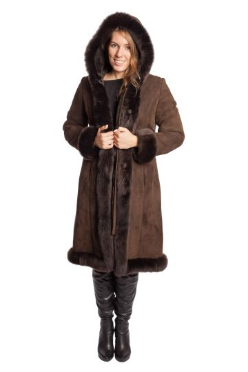 Long 'Nóra' lambskin coat - 09