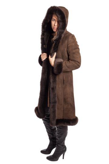 Long 'Nóra' lambskin coat - 10