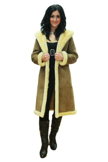 Long 'Petra' lambskin coat - 01