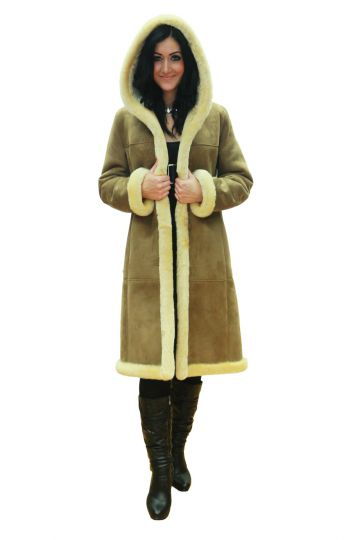Long 'Petra' lambskin coat - 02