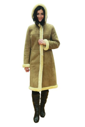 Long 'Petra' lambskin coat - 03