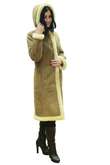 Long 'Petra' lambskin coat - 04