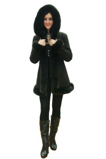 Short 'Nóra' lambskin coat - 01