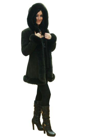 Short 'Nóra' lambskin coat - 02