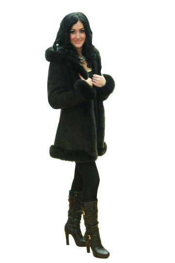 Short 'Nóra' lambskin coat - 03