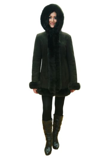Short 'Nóra' lambskin coat - 06
