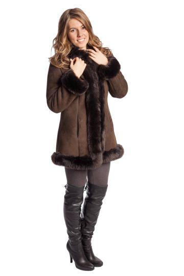 Short 'Nóra' lambskin coat - 08