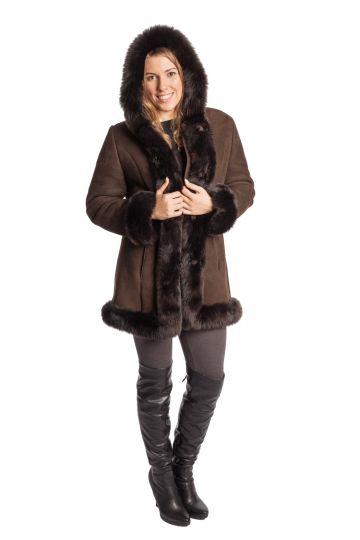 Short 'Nóra' lambskin coat - 10